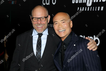 Alton Brown and Mark Dacascos