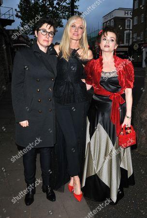 Sue Perkins, Joely Richardson and Helena Bonham Carter