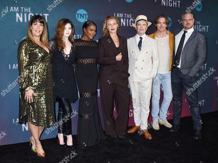Stock Image of Patty Jenkins, India Eisley, Golden Brooks, Connie Nielsen, Jefferson Mays, Chris Pine and Sam Sheridan