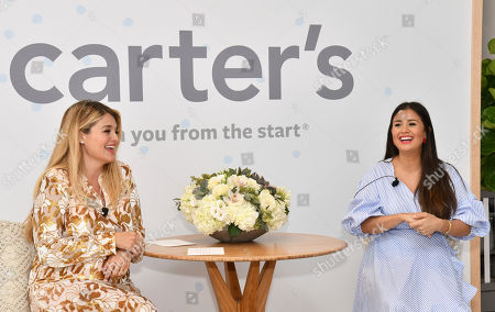 Stock Picture of Daphne Oz, Catherine Lowe. Daphne Oz, left, and Catherine Lowe host a funny, heartfelt conversation about motherhood during a Mother's Day brunch to debut their annual Little Baby Basics collection on in New York