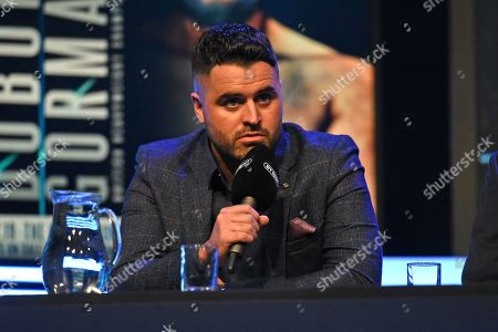 Sam Jones during a Press Conference at the BT Studio on 9th May 2019