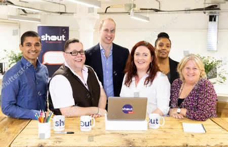 Editorial picture of Metal health text messaging service 'Shout' launch, UK - 2019