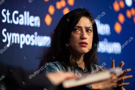 Fatima Bhutto, writer from Pakistan, reacts during the 49th St. Gallen Symposium in St. Gallen, Switzerland, 10 May 2019.