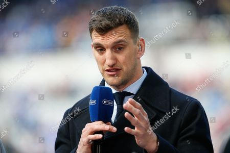Sam Warburton of BT Sport discusses the game prior to kick off. Saracens v Leinster Rugby in The Champions Cup Final at St. James' Park, newcastle upon Tyne on Saturday 11th May 2019