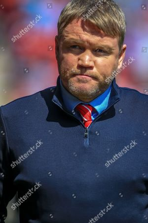 12th May 2019, Keepmoat Stadium, Doncaster, England; Sky Bet League One Play-offs Semi-Final first leg, Doncaster Rovers vs Charlton Athletic ;  Grant McCann manager of Doncaster Rovers before kick off Credit: Craig Milner/News Images  English Football League images are subject to DataCo Licence