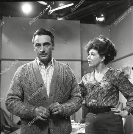 Ernst Walder (as Ivan Cheveski) and Pat Phoenix (as Elsie Tanner)