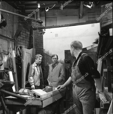 Peter Adamson (as Len Fairclough), Geoffrey Matthews (as Neil Crossley) and Graham Haberfield (as Jerry Booth)