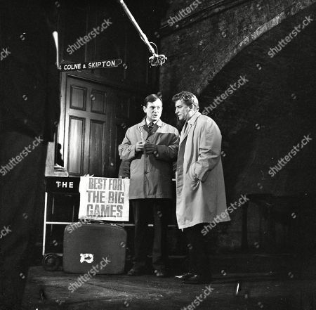 Geoffrey Matthews (as Neil Crossley) and Peter Adamson (as Len Fairclough)