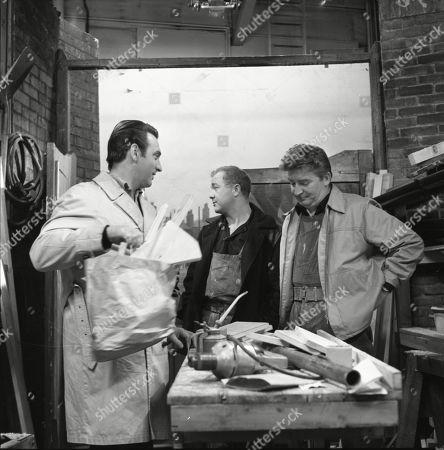 Ernst Walder (as Ivan Cheveski), Graham Haberfield (as Jerry Booth) and Peter Adamson (as Len Fairclough)