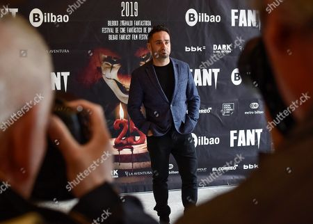 Stock Photo of Juan Antonio Bayona poses during the presentation of the Honor Estrella Award of the Fantasy Film Festival in Bilbao, Spain, 10 May 2019. Bayona will be receiving the award in the evening at the Festival's closing gala.