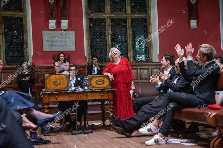 Editorial photo of Anne Widdecombe and Katie Hopkins at the Oxford Union, UK - 09 May 2019
