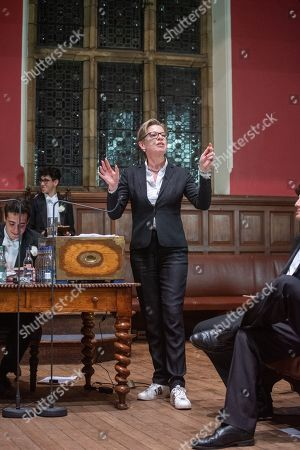 Editorial picture of Anne Widdecombe and Katie Hopkins at the Oxford Union, UK - 09 May 2019