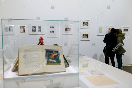 Visitors look at pictures which are part of the exhibition 'Intimate Audrey' at Espace Vanderborght Museum in Brussels, Belgium, 10 May 2019. 'Intimate Audrey' is an exhibition about the life of Audrey Hepburn created by her son, Sean Hepburn Ferrer, to celebrate her 90th birthday anniversary in her birth town, Brussels. The exhibition runs from 1 May 2019 until 25 August 2019.