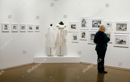A visitor looks at pictures which are part of the exhibition 'Intimate Audrey' at Espace Vanderborght Museum in Brussels, Belgium, 10 May 2019. 'Intimate Audrey' is an exhibition about the life of Audrey Hepburn created by her son, Sean Hepburn Ferrer, to celebrate her 90th birthday anniversary in her birth town, Brussels. The exhibition runs from 1 May 2019 until 25 August 2019.