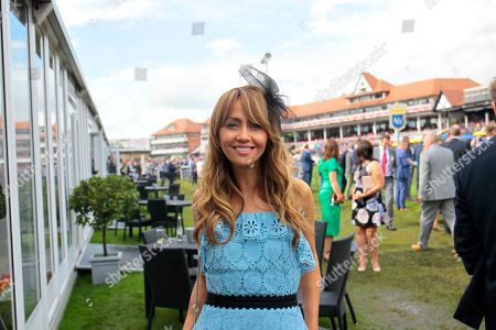 Stock Image of Coronation Street star Samia Ghadie at Chester races.