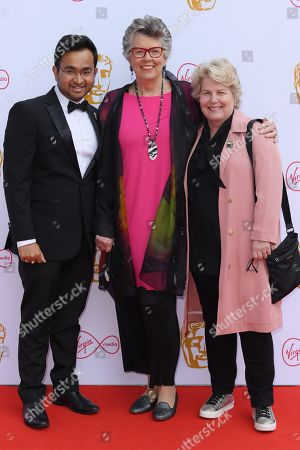 Rahul Mandal, Prue Leith and Sandi Toksvig