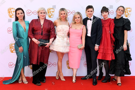 Stock Image of Louisa Harland, Nicola Coughlan, Dylan Llewellyn, Jamie-Lee O'Donnell, Saoirse-Monica Jackson, Kathy Kiera Clarke and Siobhan McSweeney