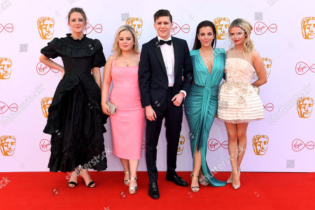 Stock Image of Louisa Harland, Nicola Coughlan, Dylan Llewellyn, Jamie-Lee O'Donnell and Saoirse-Monica Jackson