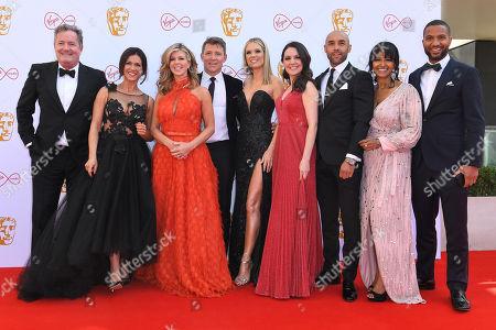 Stock Photo of Piers Morgan, Susanna Reid, Kate Garraway, Ben Shephard, Charlotte Hawkins, Laura Tobin, Alex Beresford, Ranvir Singh and Sean Fletcher
