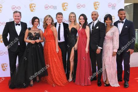 Stock Picture of Piers Morgan, Susanna Reid, Kate Garraway, Ben Shephard, Charlotte Hawkins, Laura Tobin, Alex Beresford, Ranvir Singh and Sean Fletcher