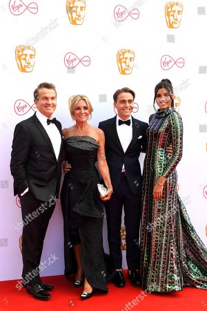 Stock Picture of Bradley Walsh, Donna Derby, Barney Walsh and Stephanie Del Valle Diaz