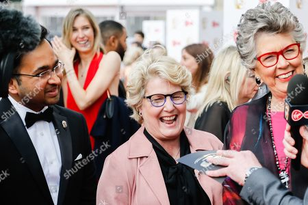 Stock Photo of Rahul Mandal, Sandi Toksvig and Prue Leith