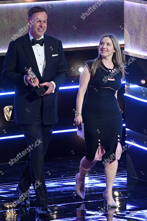 Peter Jones and Victoria Coren-Mitchell