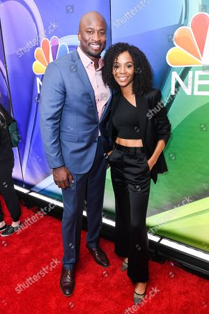 Akbar Gbaja-Biamila and Zuri Hall