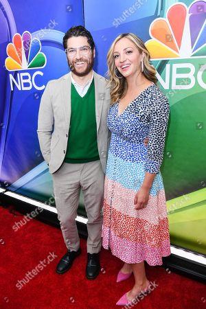 Adam Pally and Abby Elliott