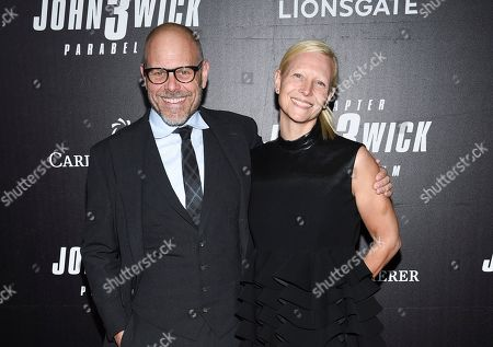 "Alton Brown, Elizabeth Ingram. Celebrity chef Alton Brown, and wife Elizabeth Ingram attend the world premiere of ""John Wick: Chapter 3 - Parabellum"" at One Hanson, in New York"