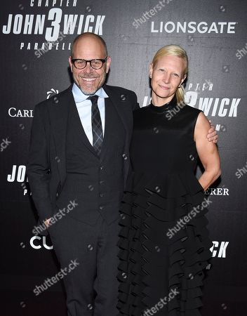 "Stock Image of Alton Brown, Elizabeth Ingram. Celebrity chef Alton Brown, and wife Elizabeth Ingram attend the world premiere of ""John Wick: Chapter 3 - Parabellum"" at One Hanson, in New York"