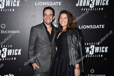 "Lin-Manuel Miranda, Vanessa Nadal. Actor Lin-Manuel Miranda, left, and wife Vanessa Nadal attend the world premiere of ""John Wick: Chapter 3 - Parabellum"" at One Hanson, in New York"