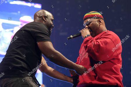 Stock Picture of Kelvin Mercer and Maseo of De La Soul