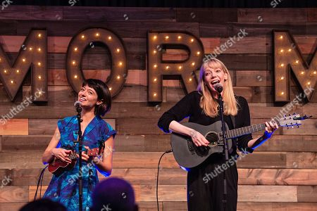 Kate Micucci; Riki Lindhome. Kate Micucci, left, and Riki Lindhome of the comedy duo Garfunkel and Oates seen at KAABOO Texas at AT&T Stadium, in Arlington, Texas