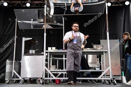 Chef Sean Brock seen at KAABOO Texas at AT&T Stadium, in Arlington, Texas