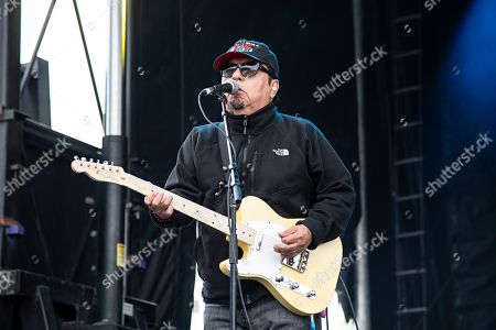 Stock Picture of Cesar Rosas of Los Lobos seen at KAABOO Texas at AT&T Stadium, in Arlington, Texas