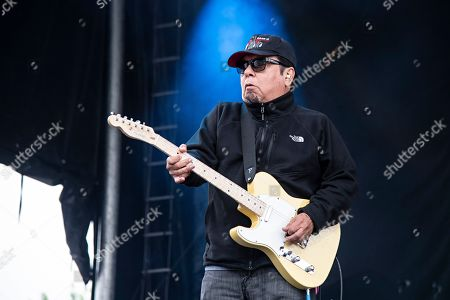 Stock Photo of Cesar Rosas of Los Lobos seen at KAABOO Texas at AT&T Stadium, in Arlington, Texas