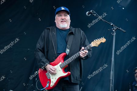Stock Photo of David Hidalgo of Los Lobos seen at KAABOO Texas at AT&T Stadium, in Arlington, Texas