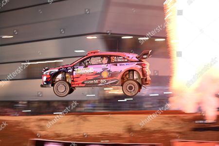 French driver Sebastien Loeb of Hyundai team competes during the 2019 Rally Chile in Concepcion, Chile, 10 May 2019.