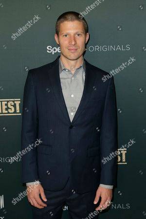"""Zach Gilford arrives at the LA Premiere of """"L.A.'s Finest"""" at the Sunset Tower Hotel, in Los Angeles"""