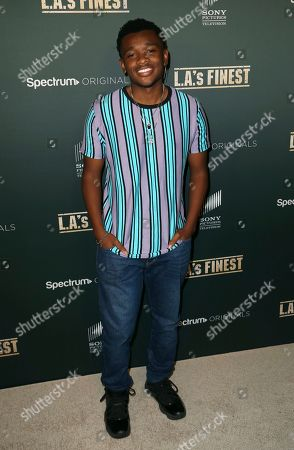 "Stock Photo of Curtis Harris arrives at the LA Premiere of ""L.A.'s Finest"" at the Sunset Tower Hotel, in Los Angeles"