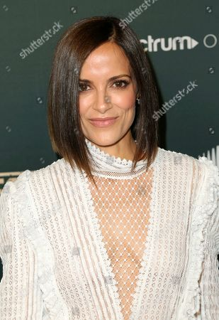 "Stock Photo of Rebecca Budig arrives at the LA Premiere of ""L.A.'s Finest"" at the Sunset Tower Hotel, in Los Angeles"
