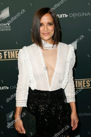 "Stock Image of Rebecca Budig arrives at the LA Premiere of ""L.A.'s Finest"" at the Sunset Tower Hotel, in Los Angeles"