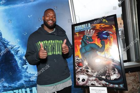 Editorial photo of 'Godzilla' film fan screening and dome lighting, Los Angeles, USA - 10 May 2019