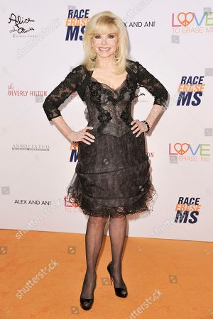 Loni Anderson attends the 26th Annual Race to Erase MS Gala at the Beverly Hilton, in Beverly Hills, Calif