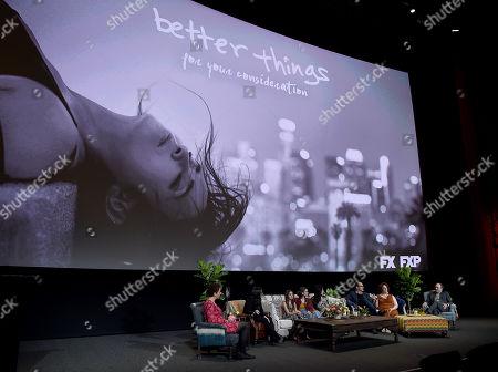 Stock Image of Melanie McFarland, Pamela Adlon, Olivia Edward, Hannah Alligood, Mikey Madison, Diedrich Bader, Rebecca Metz, Kevin Pollak