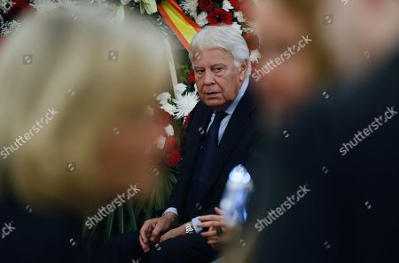 Spanish former Prime Minister Felipe Gonzalez attends the funeral chapel of former Minister Alfredo Perez Rubalcaba in the Lower House in Madrid, Spain, 11 May 2019. Rubalcaba, former Minister of Defense and Interior as well as former deputy chairman of the Socialist Party (PSOE), died 10 May 2019, two days after he suffered a stroke. The funeral chapel will be open until 14.00 local time 11 May 2019, and a private funeral with family and friends will be held 12 may 2019.