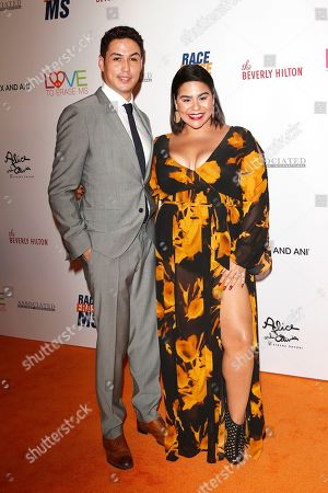Julio Macias (L) and Jessica Marie Garcia arrive for the 26th Annual Race To Erase MS Gala at The Beverly Hilton Hotel, in Beverly Hills, California, USA, 10 May 2019. The gala raises money for Race To Erase MS and its center without walls program.