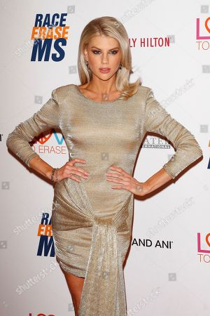 Charlotte McKinney arrives for the 26th Annual Race To Erase MS Gala at The Beverly Hilton Hotel, in Beverly Hills, California, USA, 10 May 2019. The gala raises money for Race To Erase MS and its center without walls program.