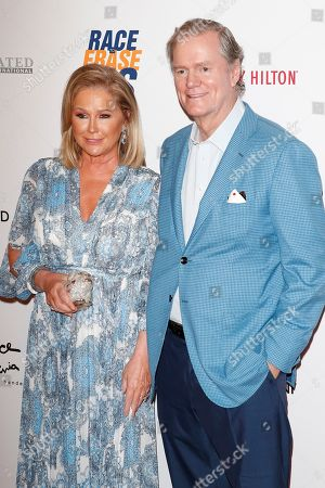 Kathy Hilton and husband Rick Hilton arrive for the 26th Annual Race To Erase MS Gala at The Beverly Hilton Hotel, in Beverly Hills, California, USA, 10 May 2019. The gala raises money for Race To Erase MS and its center without walls program.